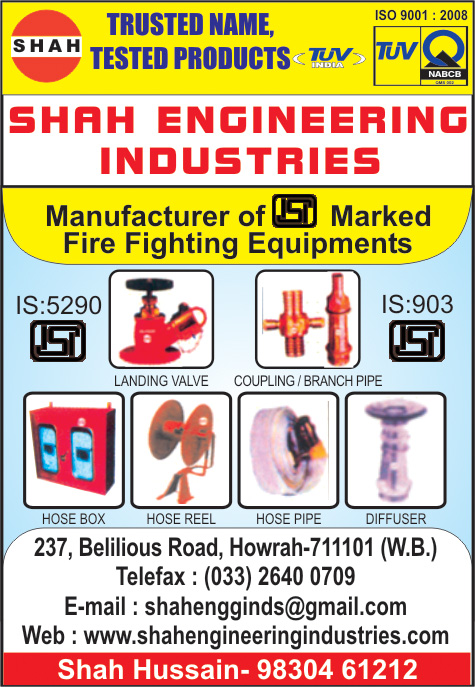 Fire Control Engineers, SHAH ENGINEERING INDUSTRIES, Howrah,  Yellow Pages, Kolkata, West Bengal