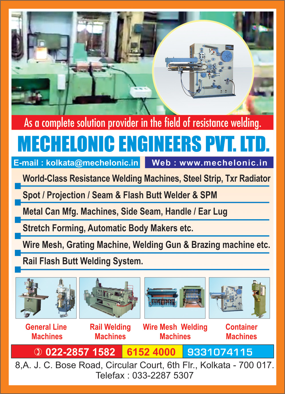 Welding Equipment, MECHELONIC ENGINEERS PVT LTD, Kolkata,  Yellow Pages, Kolkata, West Bengal