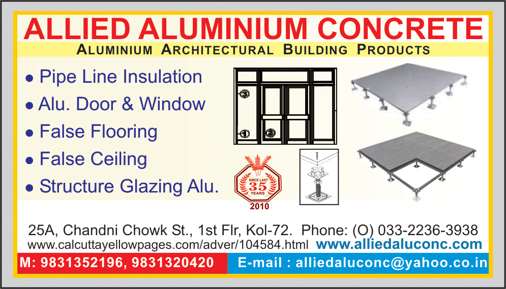 Aluminium and Aluminium Products, ALLIED ALUMINIUM CONCRETE, Kolkata,  Yellow Pages, Kolkata, West Bengal