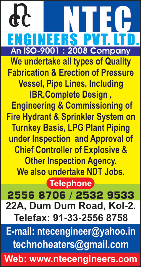 Engineers and Contractors, NTEC ENGINEERS PVT LTD, Kolkata,  Yellow Pages, Kolkata, West Bengal