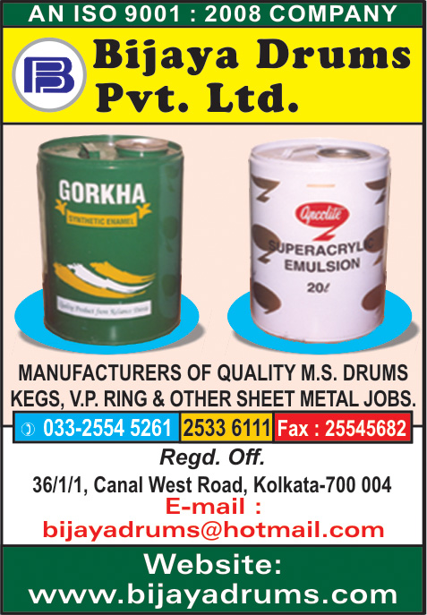 Drums and Barrels, BIJAYA DRUMS PVT LTD, Kolkata,  Yellow Pages, Kolkata, West Bengal