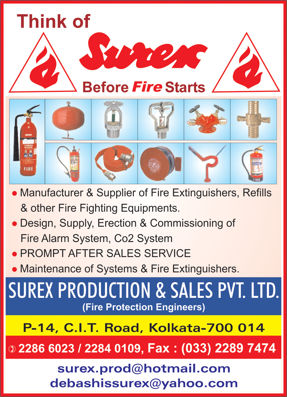 Fire Fighting Equipment, SUREX PRODUCTION & SALES (P) LTD, Kolkata,  Yellow Pages, Kolkata, West Bengal