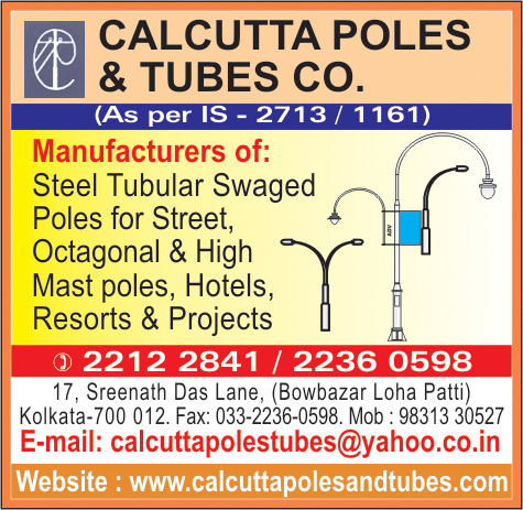 Poles, CALCUTTA POLES & TUBES CO, Kolkata,  Yellow Pages, Kolkata, West Bengal