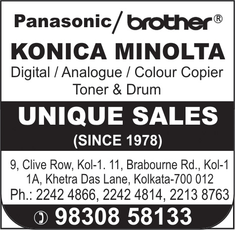 UNIQUE SALES Copiers Kolkata Yellow Pages Kolkata West Bengal