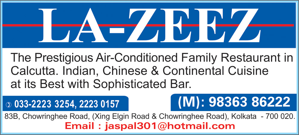 Restaurants and Bars, LA-ZEEZ HOTEL PVT LTD, Kolkata,  Yellow Pages, Kolkata, West Bengal