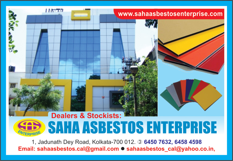 SAHA ASBESTOS ENTERPRISE Aluminium Composite Panel Work Kolkata Yellow Pages Kolkata West Bengal