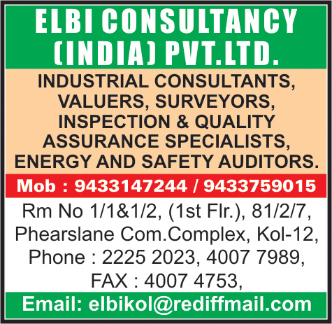 Valuers, ELBI CONSULTANCY (INDIA) PVT LTD, Kolkata,  Yellow Pages, Kolkata, West Bengal