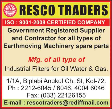 Earthmoving Machinery and Parts, RESCO TRADERS, Kolkata,  Yellow Pages, Kolkata, West Bengal