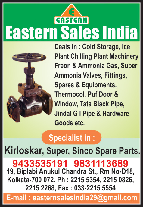 EASTERN SALES INDIA Cold Storage and Equipment Kolkata Yellow Pages Kolkata West Bengal