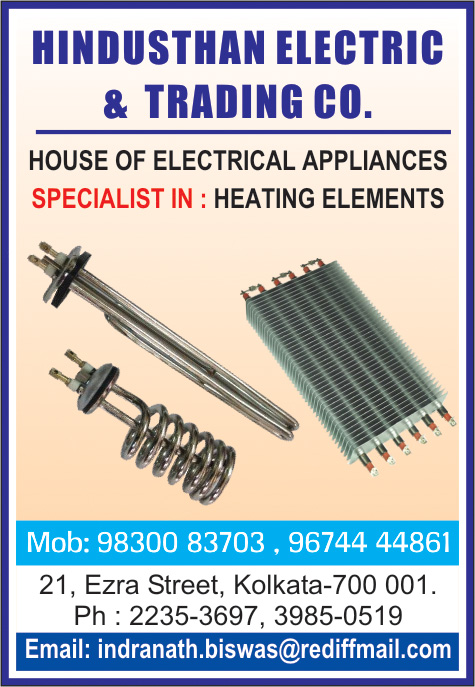 Heaters Industrial, HINDUSTHAN ELECTRIC & TRADING CO, Kolkata,  Yellow Pages, Kolkata, West Bengal