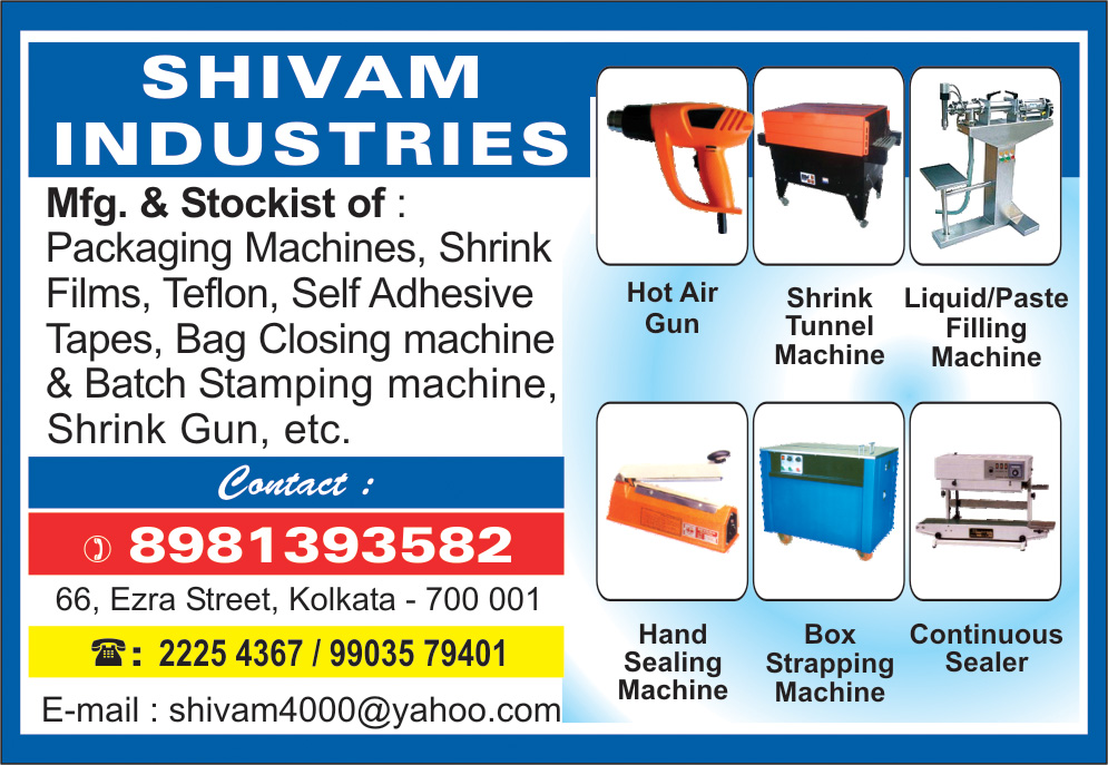SHIVAM INDUSTRIES Packaging Machinery and Systems Kolkata Yellow Pages Kolkata West Bengal