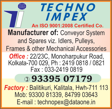 Conveyor Rollers, TECHNO IMPEX, Kolkata,  Yellow Pages, Kolkata, West Bengal