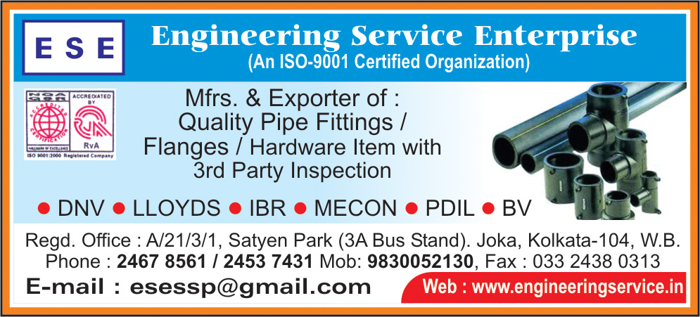 Pipes and Pipe Fittings, ENGINEERING SERVICE ENTERPRISE, Kolkata,  Yellow Pages, Kolkata, West Bengal