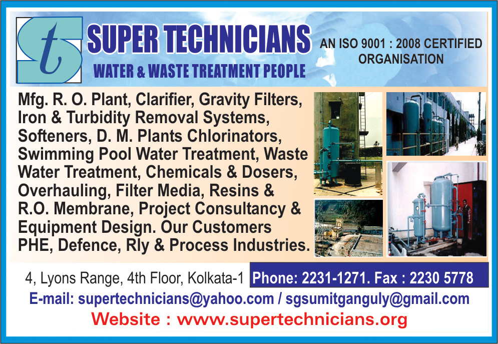SUPER TECHNICIANS Water Treatment Equipment and Parts Kolkata Yellow Pages Kolkata West Bengal