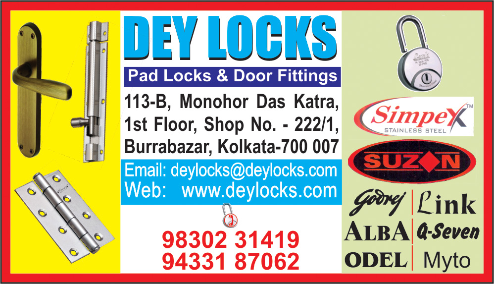 Locks, DEY LOCKS, Kolkata,  Yellow Pages, Kolkata, West Bengal