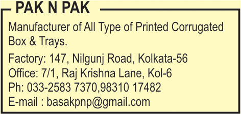 Boxes Corrugated, PACK N PACK, Kolkata,  Yellow Pages, Kolkata, West Bengal