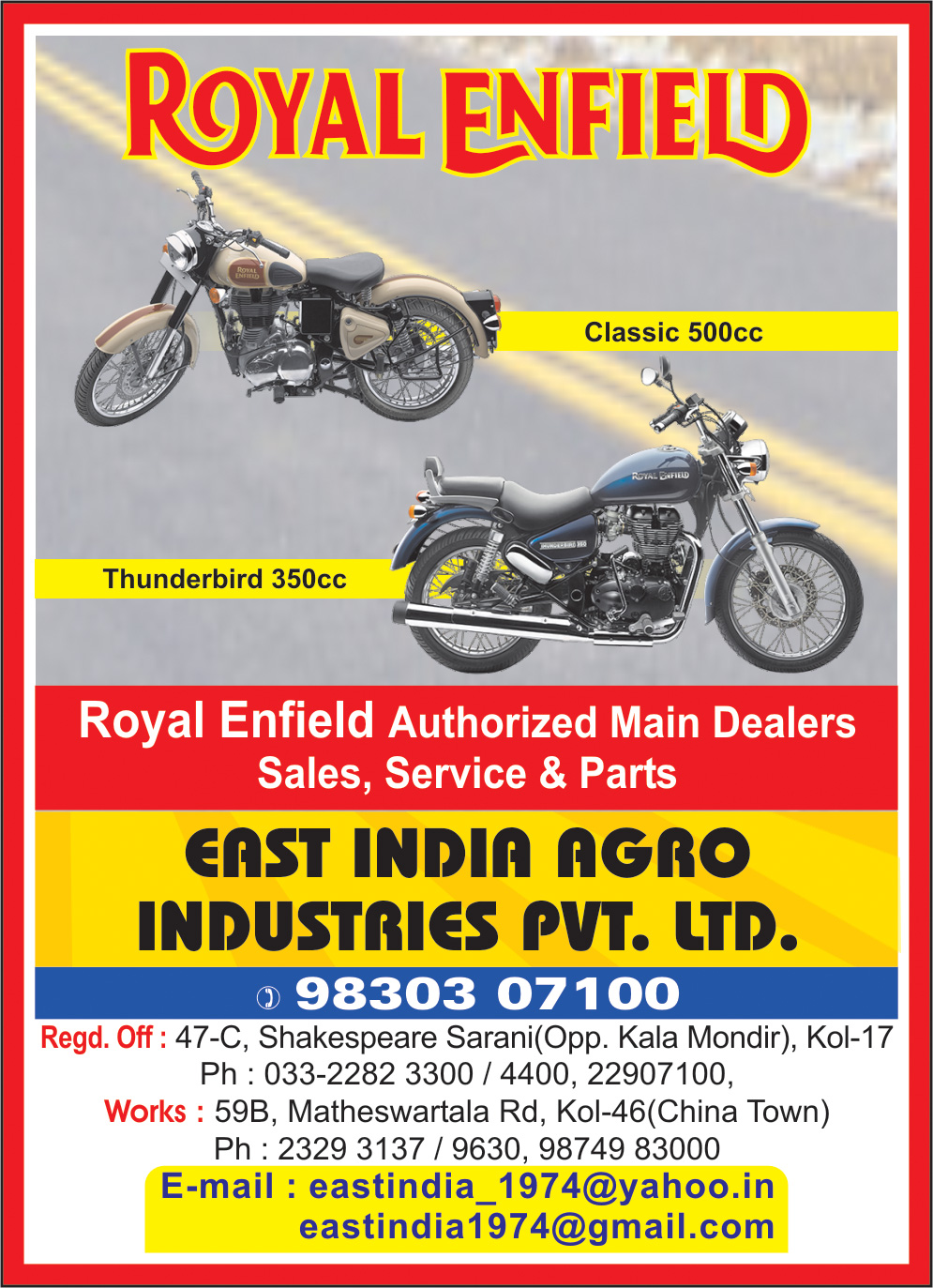 EAST INDIA AGRO INDUSTRIES PVT LTD Two Wheelers Sales Service Kolkata Yellow Pages Kolkata West Bengal