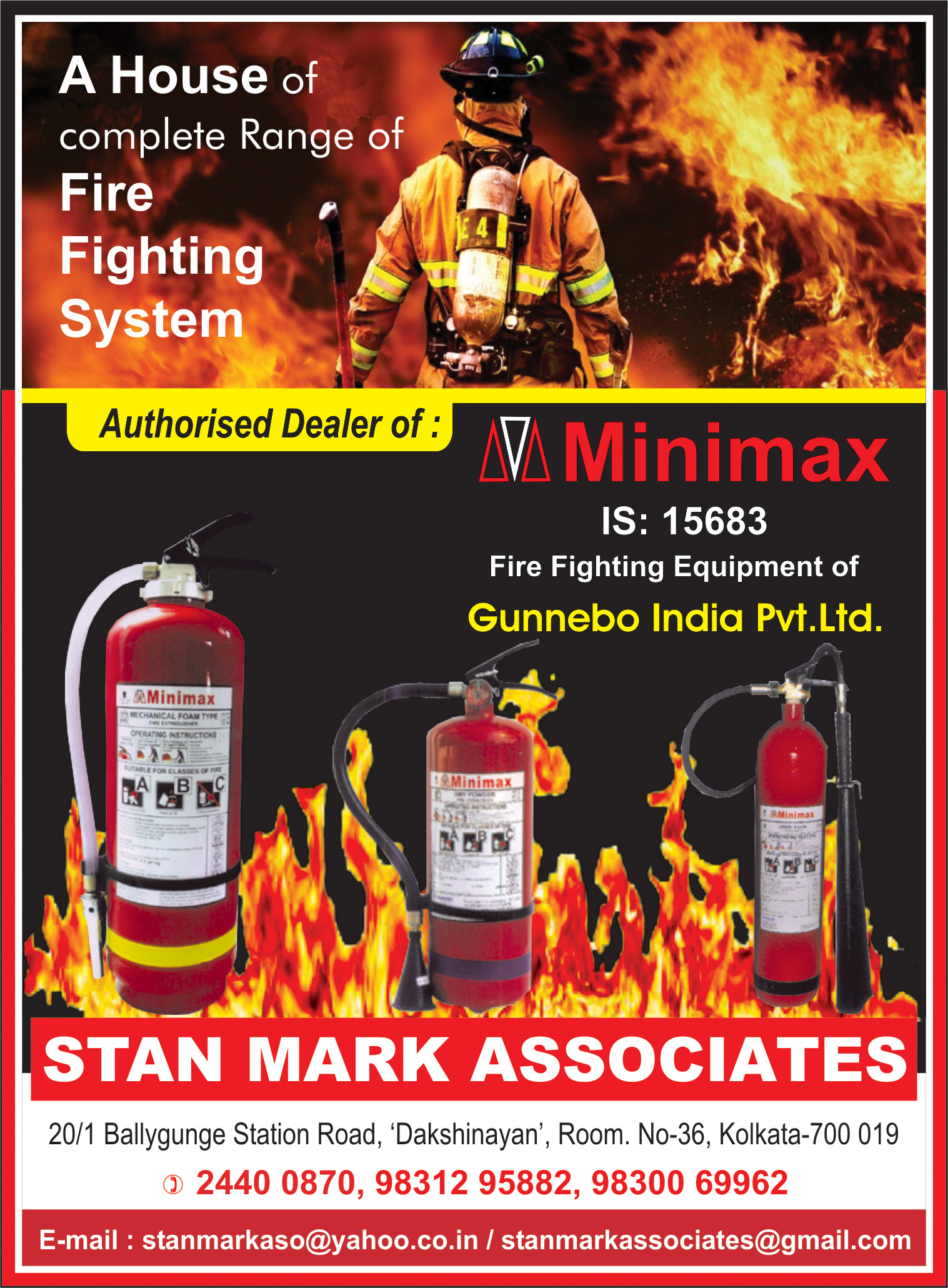 Fire Fighting Equipment, STAN MARK ASSOCIATES, Kolkata,  Yellow Pages, Kolkata, West Bengal