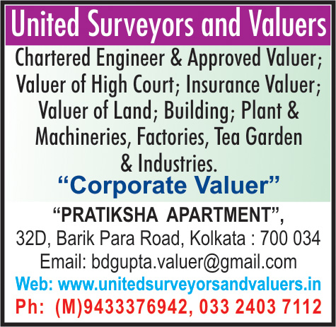 Valuers, United Surveyors and Valuers, Kolkata,  Yellow Pages, Kolkata, West Bengal