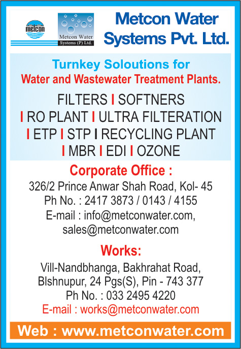 Water Treatment Equipment and Parts, METCON WATER SYSTEMS PVT LTD, Kolkata,  Yellow Pages, Kolkata, West Bengal