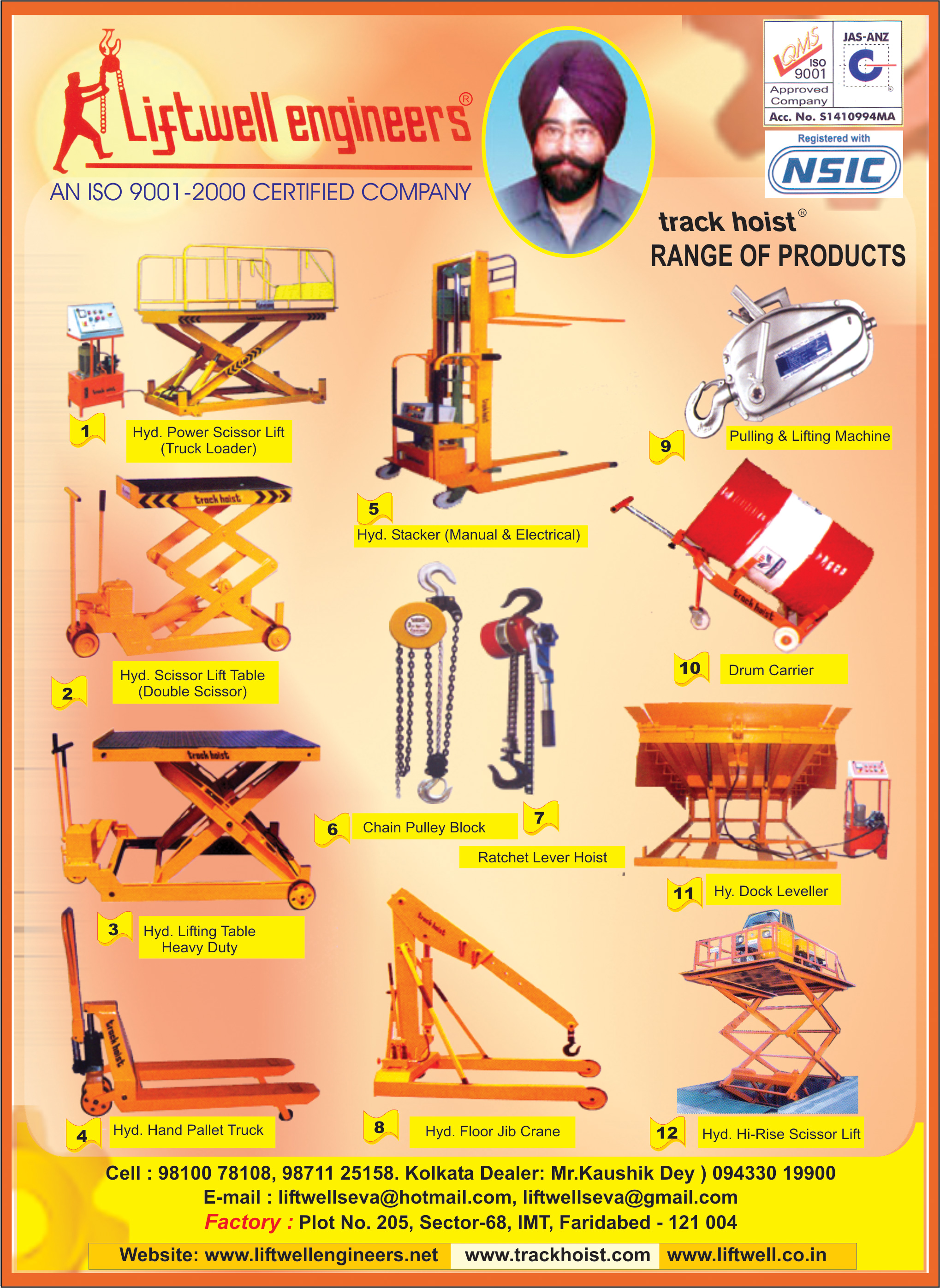 LIFTWELL ENGINEERS Material Handling Equipment and Devices Kolkata Yellow Pages Kolkata West Bengal