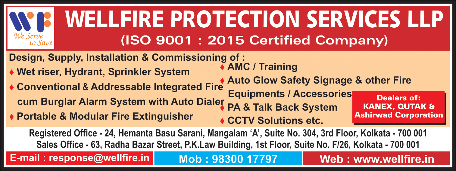 WELLFIRE PROTECTION SERVICES LLP Fire Fighting Equipment Kolkata Yellow Pages Kolkata West Bengal