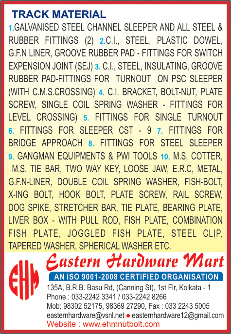 EASTERN HARDWARE MART Railway Tracks and Products Kolkata Yellow Pages Kolkata West Bengal