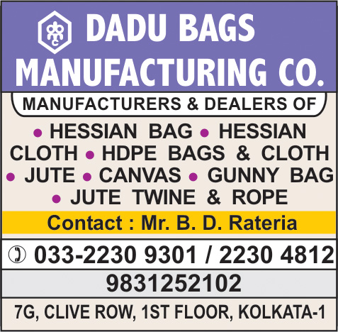 DADU BAGS MANUFACTURING CO Jute and Jute Products Kolkata Yellow Pages Kolkata West Bengal