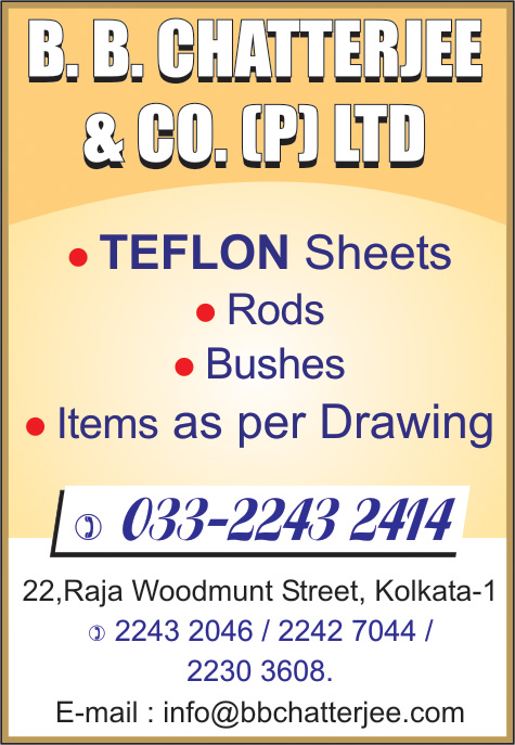 B B CHATTERJEE & CO PVT LTD Teflon/Fluon/Ptfe and Products Kolkata Yellow Pages Kolkata West Bengal