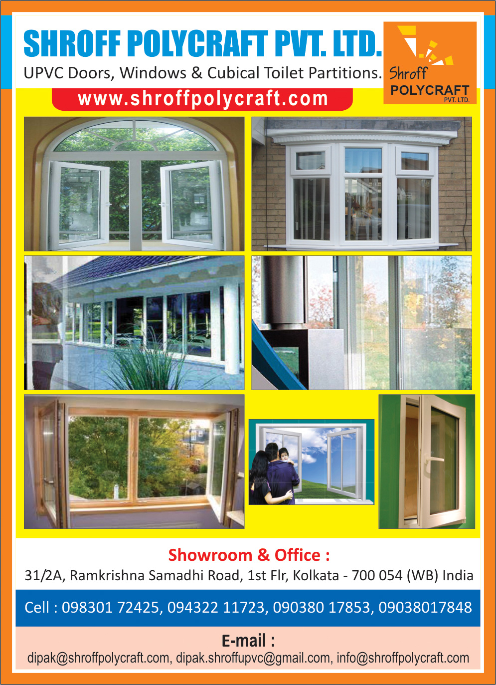 SHROFF POLYCRAFT PVT LTD Doors and Window Fittings Kolkata Yellow Pages Kolkata West Bengal