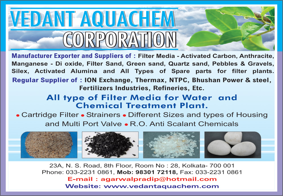 Water Treatment Chemicals, VEDANT AQUACHEM CORPORATION, Kolkata,  Yellow Pages, Kolkata, West Bengal