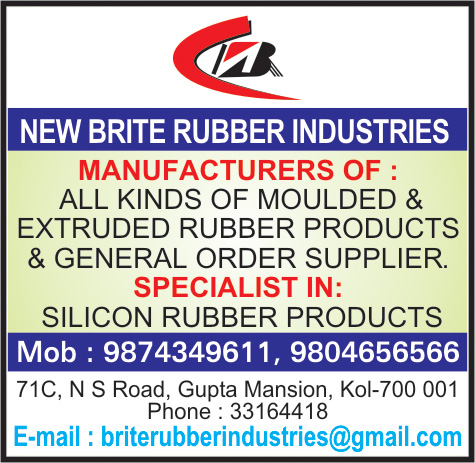 Rubber and Rubber Products, NEW BRITE RUBBER INDUSTRIES, Kolkata,  Yellow Pages, Kolkata, West Bengal