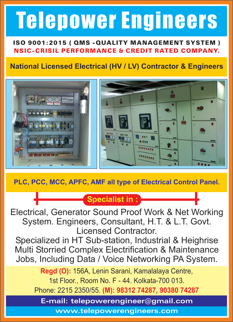 Electrical Consultants and Contractors, TELEPOWER ENGINEERS, Kolkata,  Yellow Pages, Kolkata, West Bengal