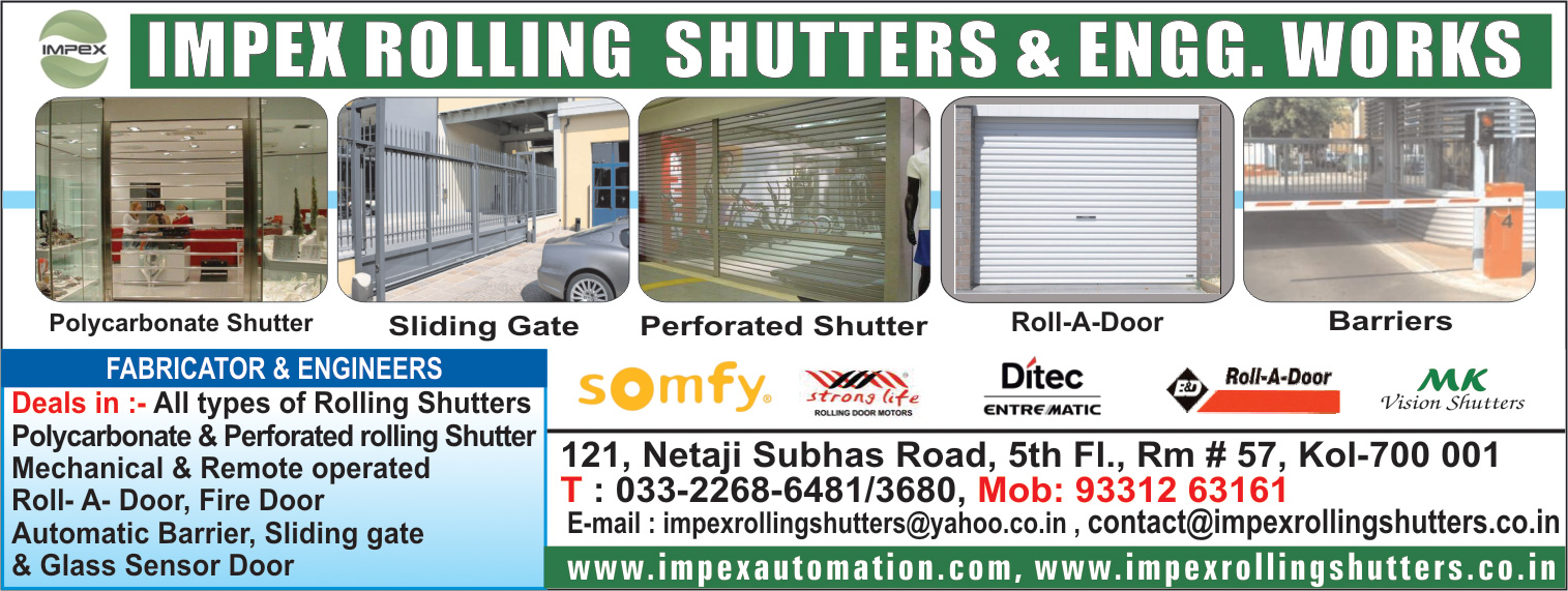 Shutters Rolling, IMPEX ROLLING SHUTTERS & ENGG WORKS, Kolkata,  Yellow Pages, Kolkata, West Bengal