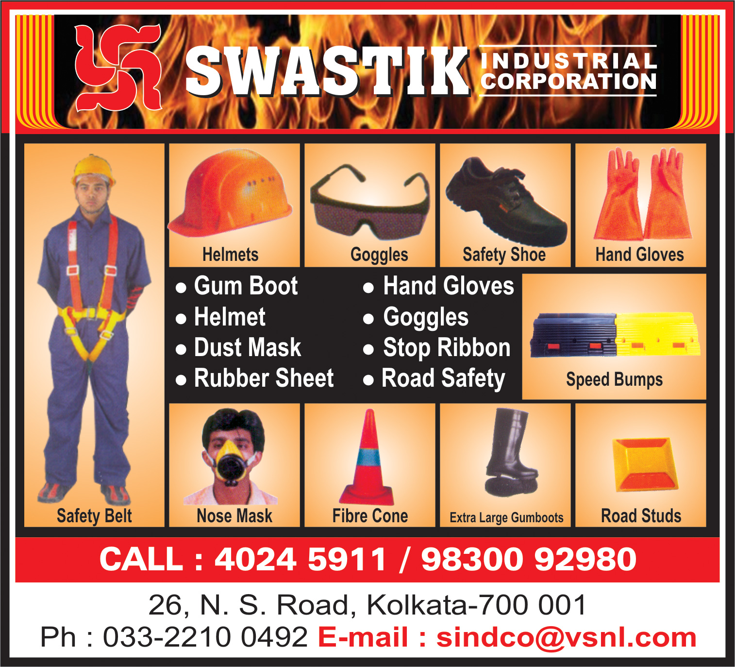 Safety Equipment and Clothing, SWASTIK INDUSTRIAL CORPORATION, Kolkata,  Yellow Pages, Kolkata, West Bengal