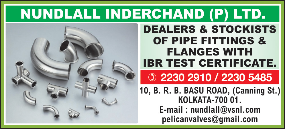 Valves and Cocks, NUNDLALL INDERCHAND PVT LTD, Kolkata,  Yellow Pages, Kolkata, West Bengal