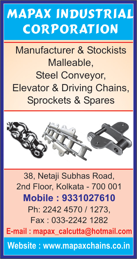 Chains and Sprockets, MAPAX INDUSTRIAL CORPORATION, Kolkata,  Yellow Pages, Kolkata, West Bengal