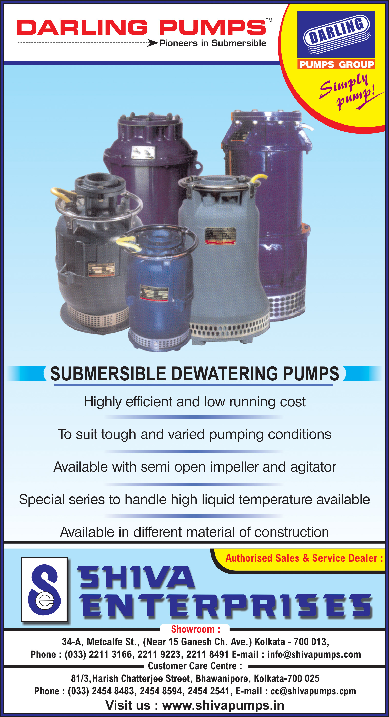 SHIVA ENTERPRISES Pumps Submersible Kolkata Yellow Pages Kolkata West Bengal