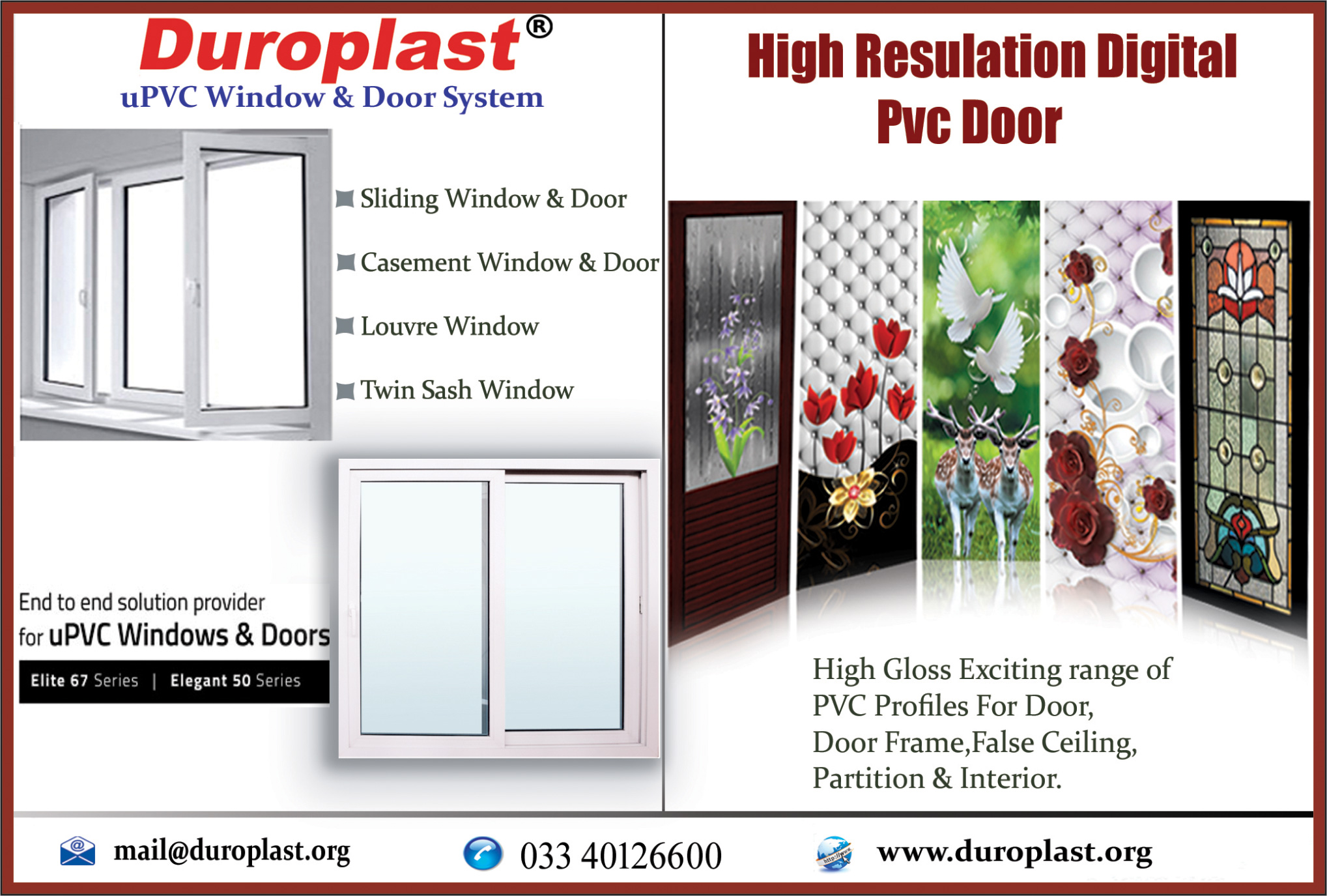 DUROPLAST EXTRUSION PVT LTD Doors and Windows Kolkata Yellow Pages Kolkata West Bengal