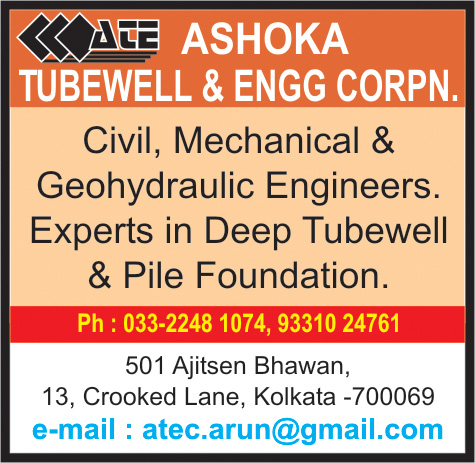 Tubewell Drillers and Contractors, ASHOKA TUBEWELL & ENGG. CORPN., Kolkata,  Yellow Pages, Kolkata, West Bengal