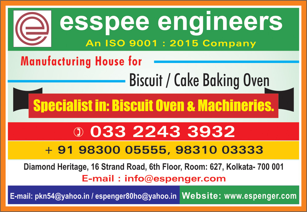 Bakery and Biscuit Equipment, ESSPEE ENGINEERS, Kolkata,  Yellow Pages, Kolkata, West Bengal