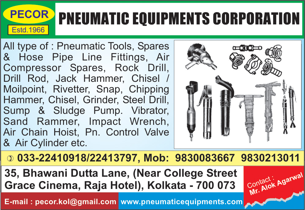 PNEUMATIC EQUIPMENTS CORPORATION Pneumatic Equipment and Parts Kolkata Yellow Pages Kolkata West Bengal