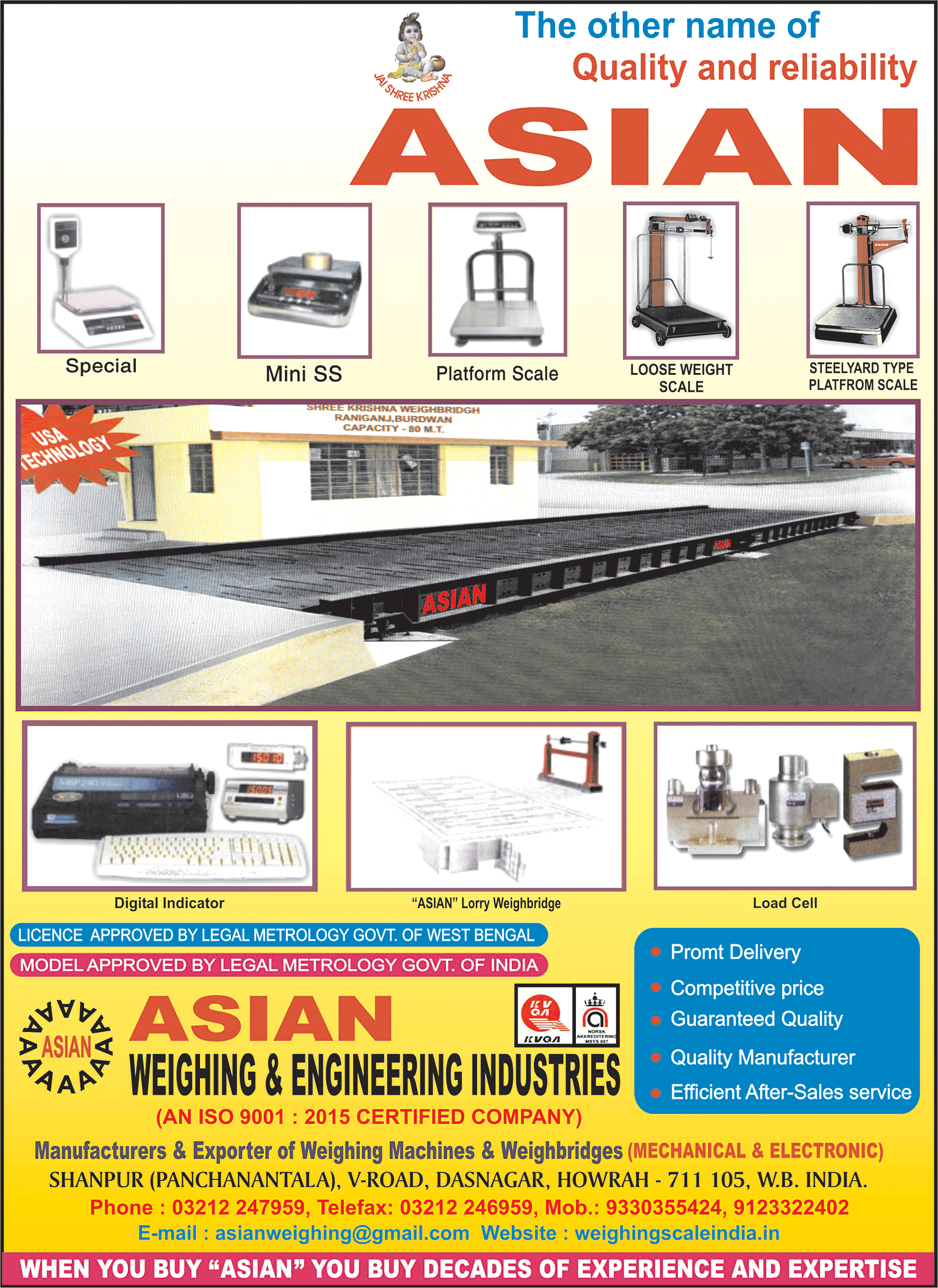 Weighing Machines, Weigh Bridges and Parts, ASIAN WEIGHING & ENGINEERING INDUSTRIES, Kolkata,  Yellow Pages, Kolkata, West Bengal