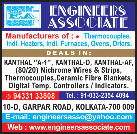 Furnaces, ENGINEERS ASSOCIATE, Kolkata,  Yellow Pages, Kolkata, West Bengal
