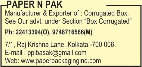 Boxes Corrugated, PAPER N PAK, Kolkata,  Yellow Pages, Kolkata, West Bengal