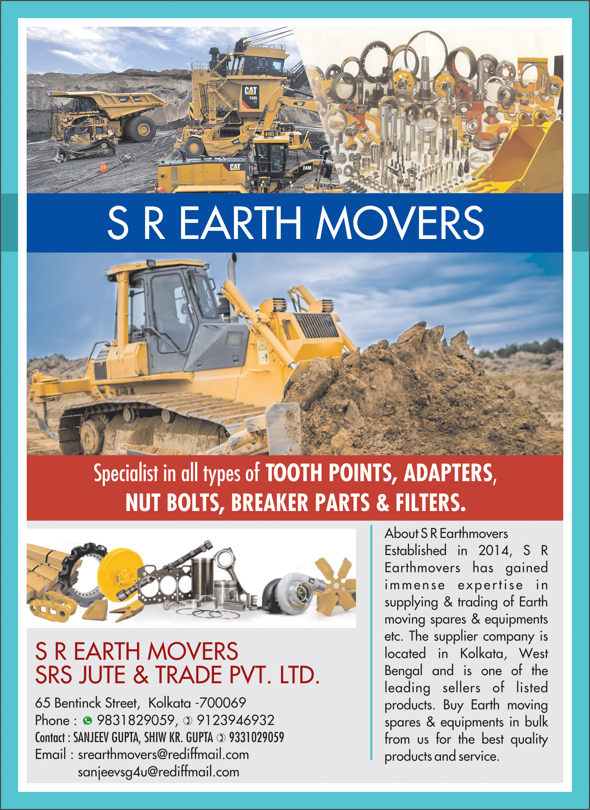 Earthmoving Machinery and Parts, S R EARTHMOVERS, Kolkata,  Yellow Pages, Kolkata, West Bengal