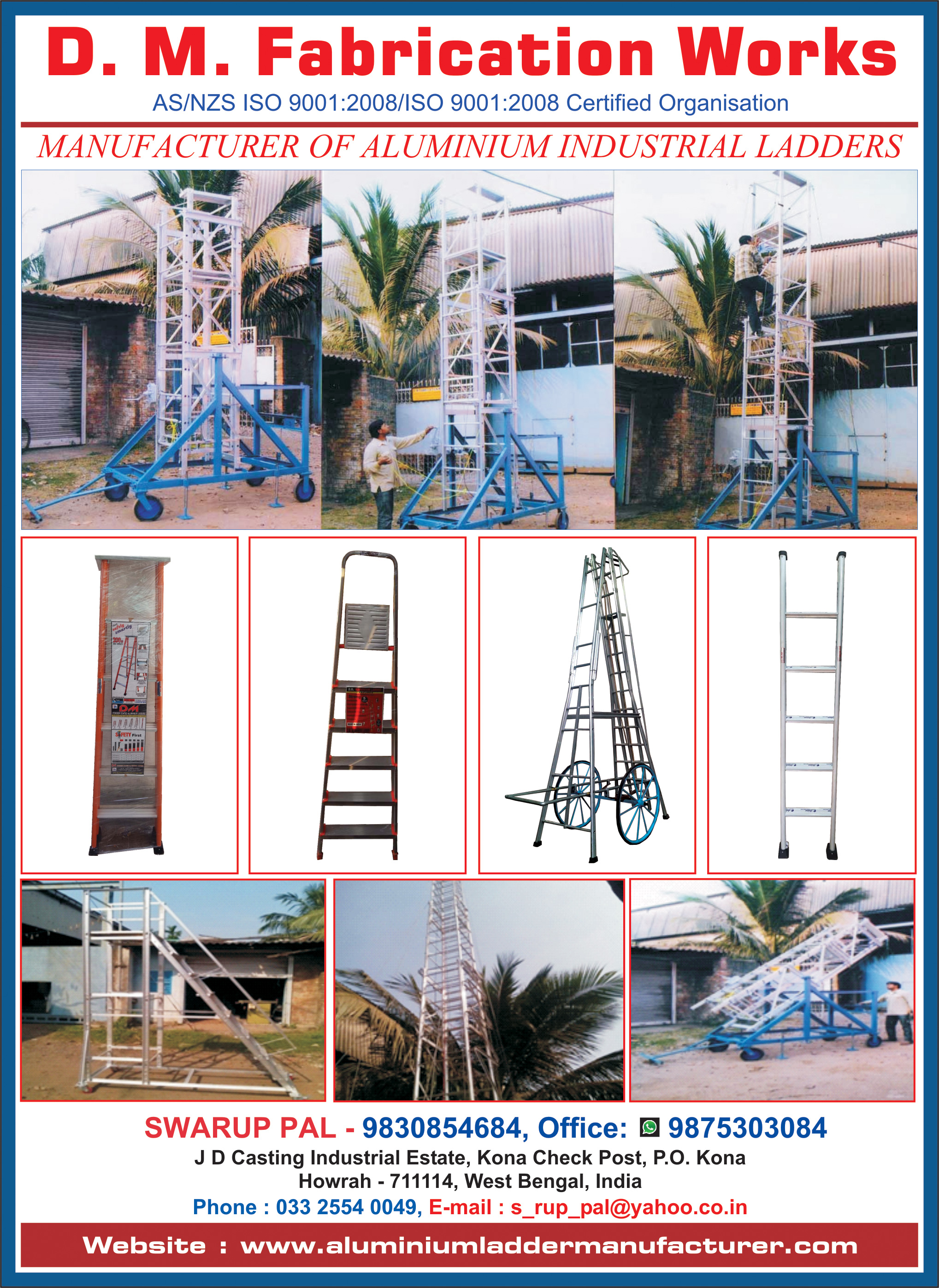 Ladders Aluminium, D M FABRICATION WORKS, Kolkata,  Yellow Pages, Kolkata, West Bengal